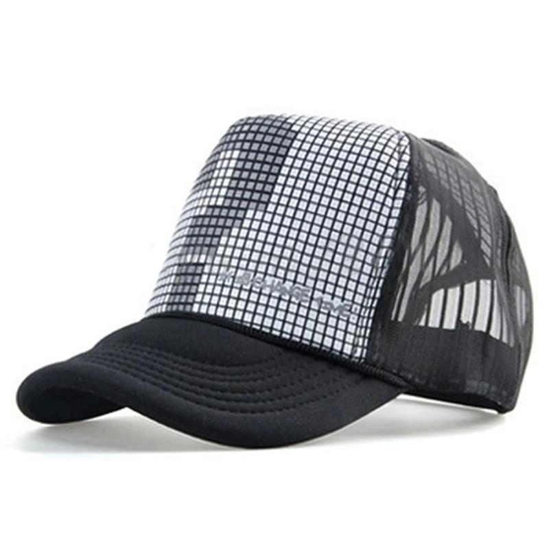 Unisex Mesh Trucker Baseball Hip-Hop Hat Adjustable Cap black question mark