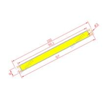 цена на 10pcs bulk sale 100mm 8mm high bright LED Strip COB module Light Source 12V DC White Warm White 5W LED bar Bulb for DIY lamp