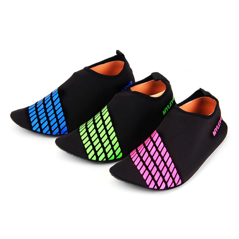 Men women shoes barefoot skin sock striped beach pool gym for Zapatillas piscina