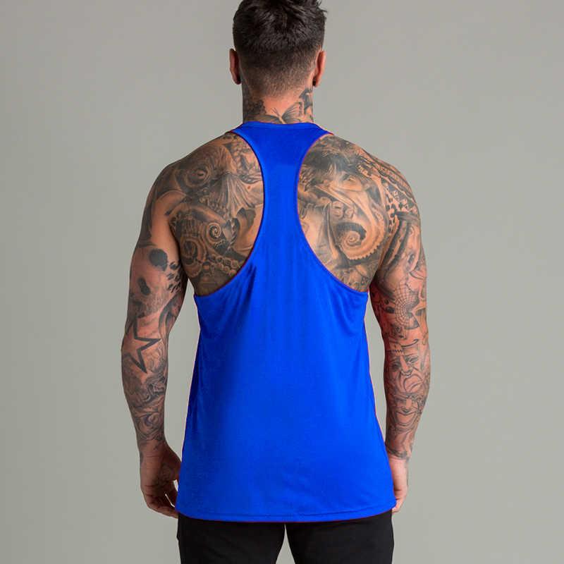 كمال الاجسام سترينجر تانك الأعلى الرجال الجمنازيوم الملابس تجريب اللياقة البدنية القطن قميص بدون أكمام الرياضة سترينجر القميص الذكور العضلات سترة