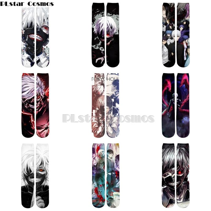Plstar Cosmos Anime Tokyo Ghoul New Style Cartoon 3d Print Men Women Funny Socks 3D High Socks Men Women High Quality