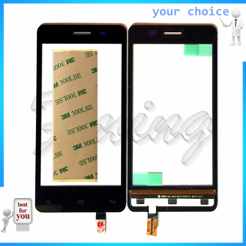 Phone Touhscreen Sensor For FLY IQ4403 Energie 3 Capactive Touch Screen Sensor Digitizer Front Glass Replacement Free Ship+tape