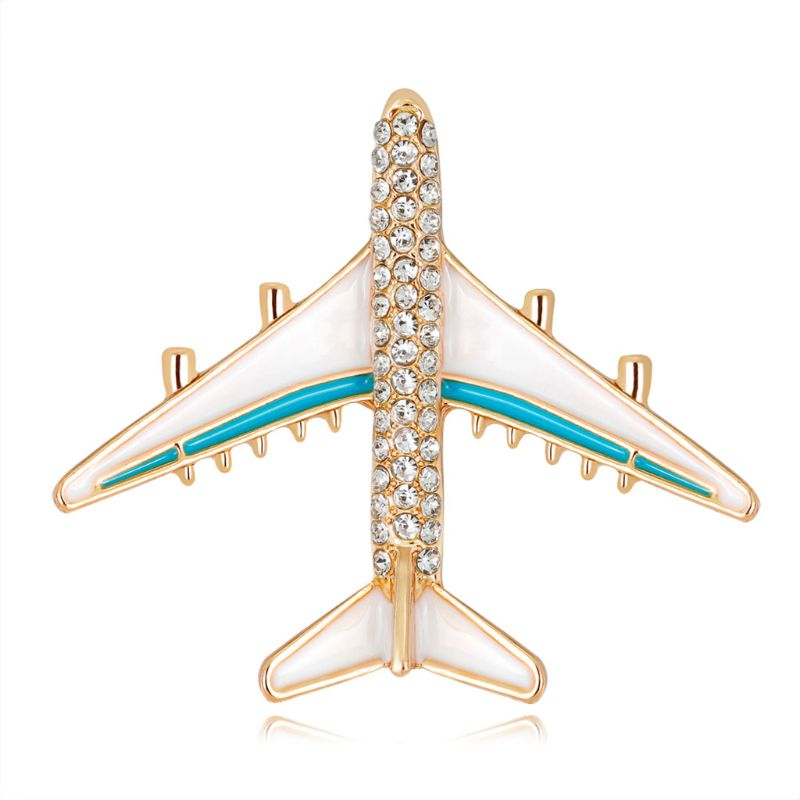 Plane Brooch Airplane Enamel Charms Jewelry Party Badge Banquet Scarf Pins Gifts image