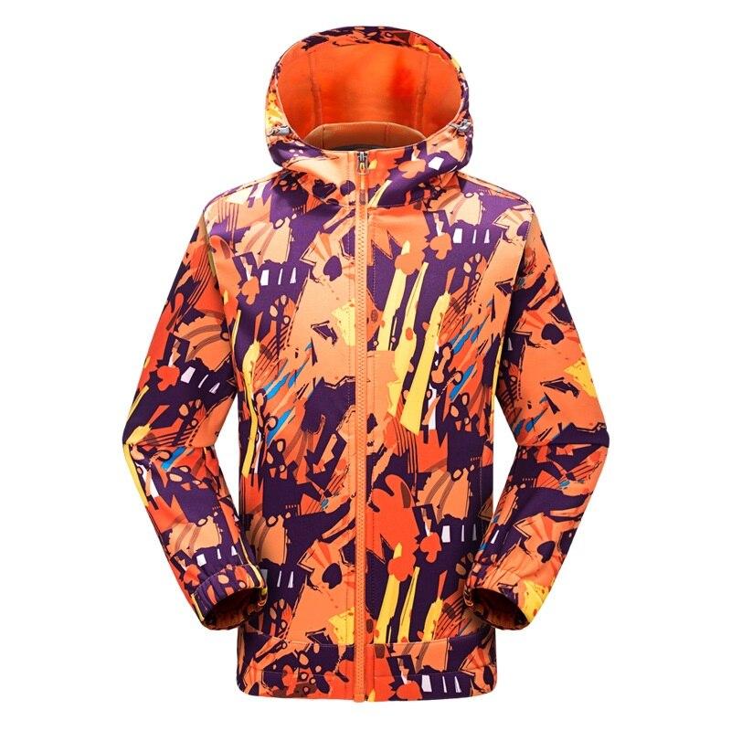 8f58bb07a43 New Autumn Winter Outdoor Windproof Thermal Kids Boys Girls Softshell  Jackets Breathable Children Polar Fleece Softshell Coats