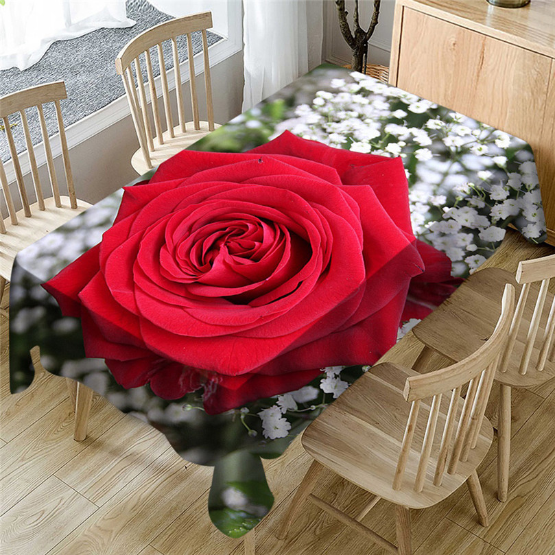 1 Pz Di San Valentino Da Tavolo Runner Zerbino Tovaglia Casa Del Partito Decorativo Di Natale Babbo Natale Arazzo Rosso Da Tavola @ 40