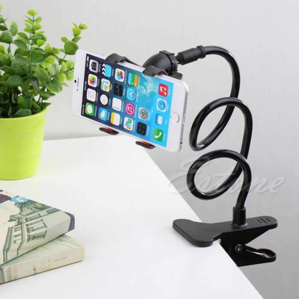Electronics Stocks Precise 1 Pc Black Universal Lazy Bed Desktop Stand Mount Car Holder For Cell Phone Long Arm New Electronics Stocks Durable Service
