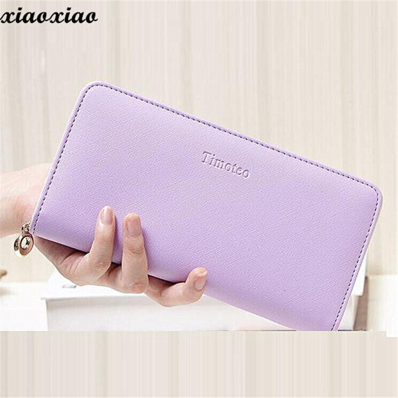 2018 Pu Leather Clutch Wallet Female Womens Wallets And Purses Long Wallet For Credit Card Holder Coin Purse Phone Pocket