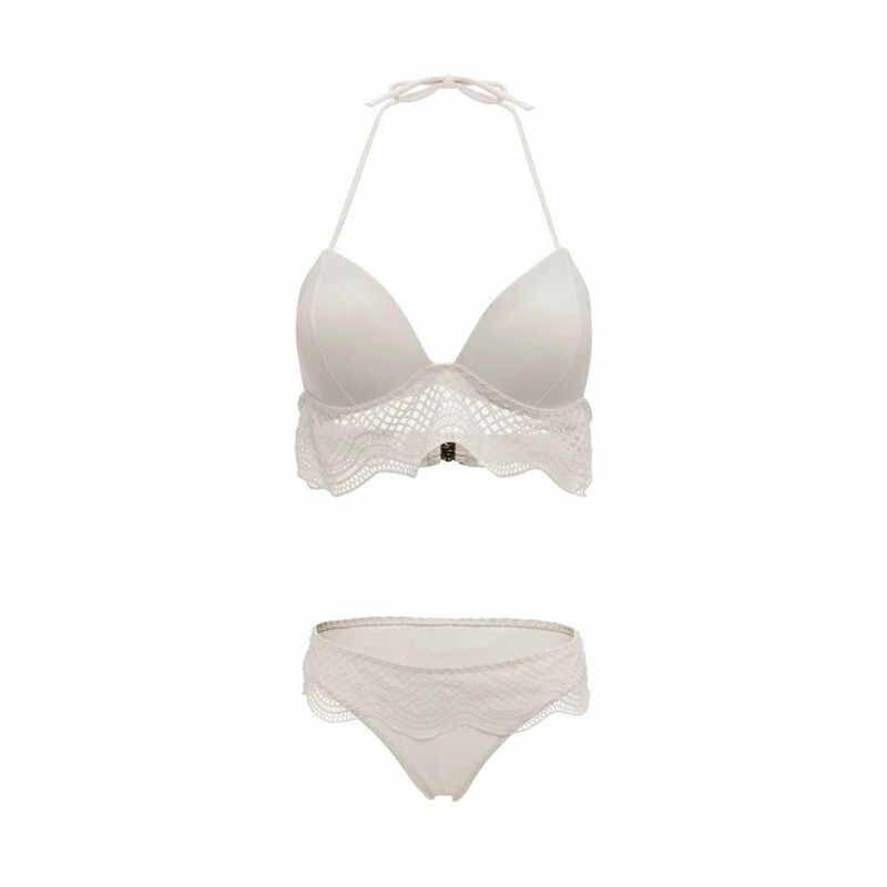 Missord 2019 для женщин летние секси галстук до два предмета Комплект бикини с принтом женский Beachewear богемный боди FT19306