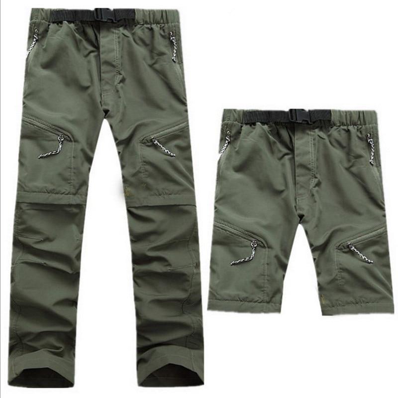 Nouveaux Sechage Rapide Amovible Randonnee Pantalon En Plein Air Sport Dete  Respirant Thousers Camping Trekking Pantalon Homme