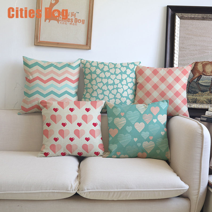 how to use decorative pillows modern simple love pattern geometry cotton linen pillowcase how to use throw pillows on a bed cotton linen pillowcase