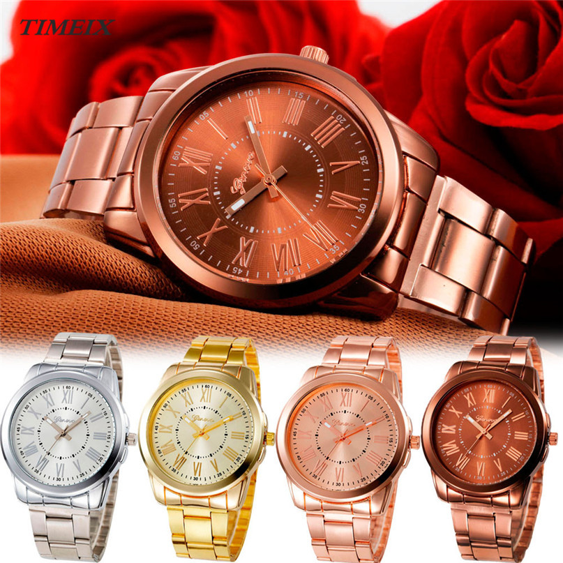 Luxury Women Watches Stainless Steel Analog Quartz Watch Ladies Wrist Watches Clock Relogio Feminino 2017*60 mymei women luxury bracelet watch stainless steel analog quartz wrist watches