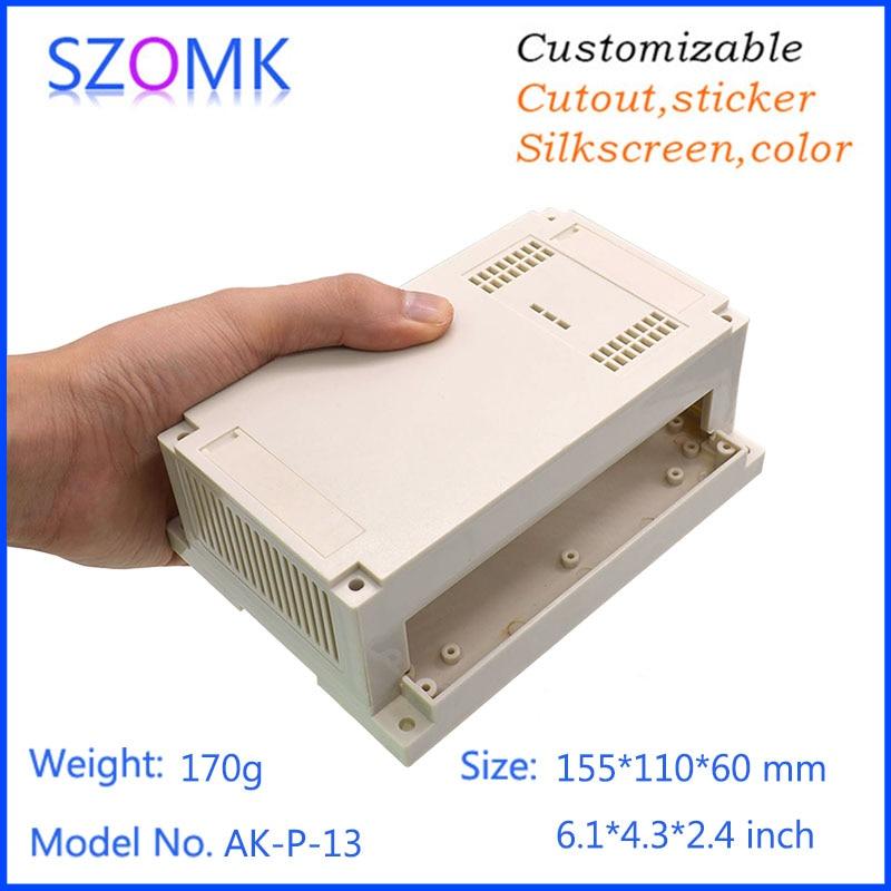 1 piece,szomk diy electronic shell case abs control enclosure plastic housing project enclosure din rail box 155*110*60mm selected novels of george eliot