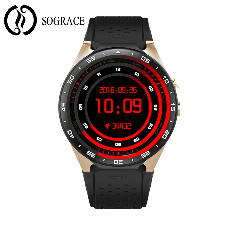 SOGRACE Smart Watches 2018 KW88 Heart Rate Tracker Android Smart Watch Music Phone Camera Smart-Watch 35 sograce smart watches 2018 kw88 heart rate tracker android smart watch music phone camera smart watch 35