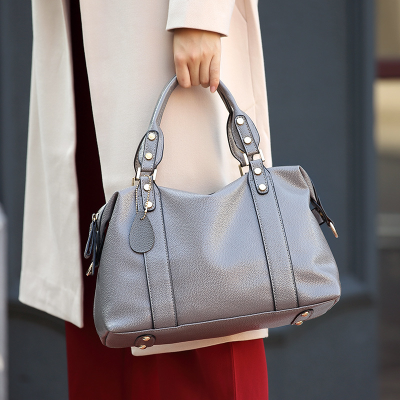 Shengxilu 2017 new spring autumn women bags leather trend fashion brand female handbags gray ladies shoulder crossbody bags