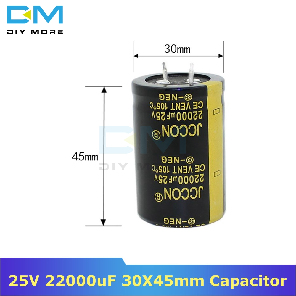 25V 22000uF 30X45mm Aluminum Electrolytic Capacitor High Frequency Low Impedance Through Hole Capacitor 30*45mm Diy Electronic