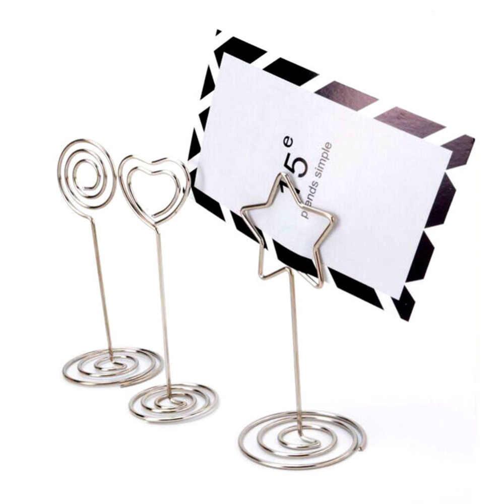 20 штук с узором в виде сердца; таблице количество держателей держатели именных карточек подставка для фотографий зажим для записок-напоминаний деревенский Свадебный декор