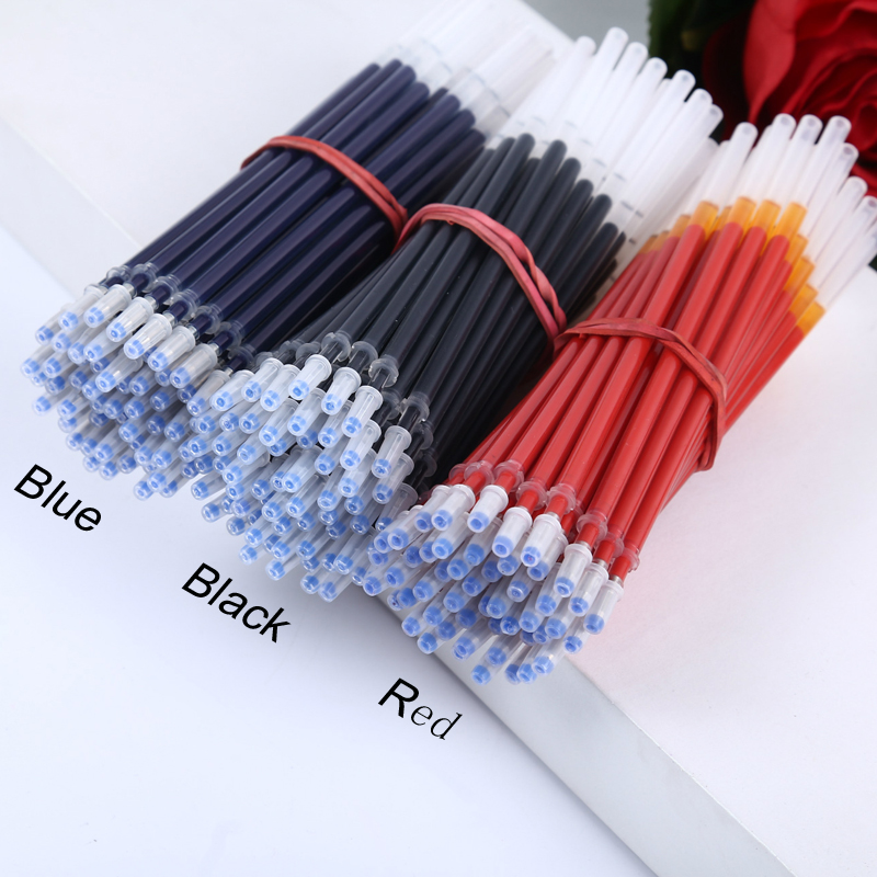 20Pcs/Lot Hot Sale Good Quality 0.5mm Neutral Ink <font><b>Gel</b></font> <font><b>Pen</b></font> <font><b>Refill</b></font> Black Blue Red Bullet <font><b>Needle</b></font> <font><b>Refill</b></font> Office Stationery Supplies image