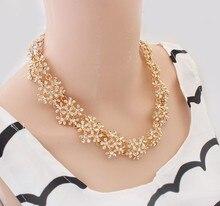Min.order $10(Mix Item) SPX3653 New Fashion Vintage Charm Crystal Flower Necklaces Body Jewelry