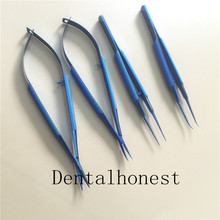 4 Pcs/set titanium 14cm outside hand instruments Kit ( invoicing )scissors needle holder forceps