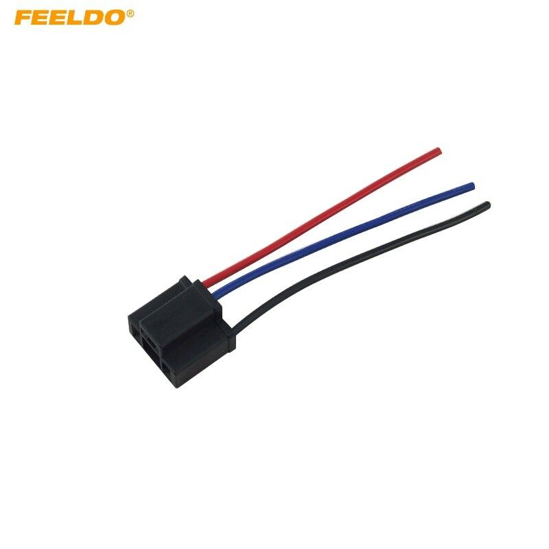 FEELDO 20 pcs Voiture H4 Femelle Phare Câble Connecteur Plug Lampe Ampoule Socket Noir Livraison gratuite # CA5452 dans Base de Automobiles et Motos