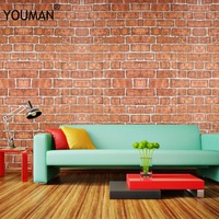 3D Brick Wall Stickers Living Room Decor PVC Waterproof DIY Self Adhensive Wall Covering Wallpaper For TV Background Kids Room