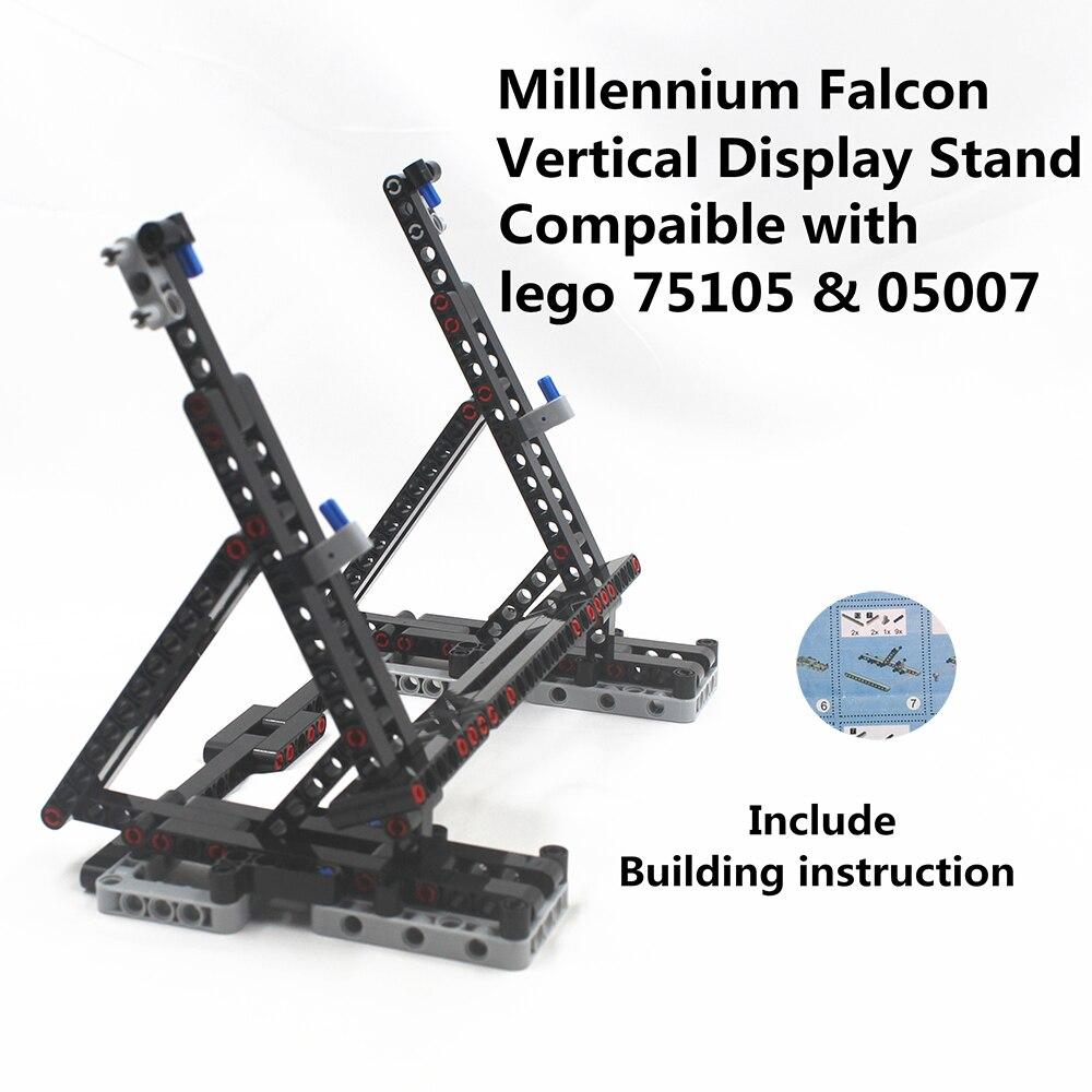 Présentoir Vertical Falcon de la république, compatible avec Lego 75105 ET 05007 blocs de construction, briques avec instructions de construction ET