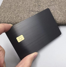все цены на Custom Cheap Luxurious Anodized Blank Black Gold Silver Stainless Steel Brushed VIP Metal Card With Chip 4428 Or Chip 4442 онлайн
