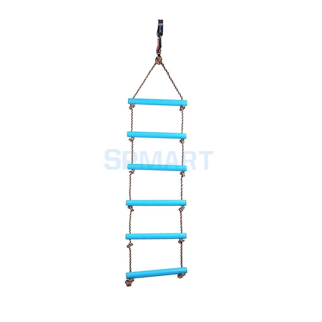 Детские Крытый и открытый театр 2 м 6 ступеней веревки лестница дворе Tree House Игрушка синий