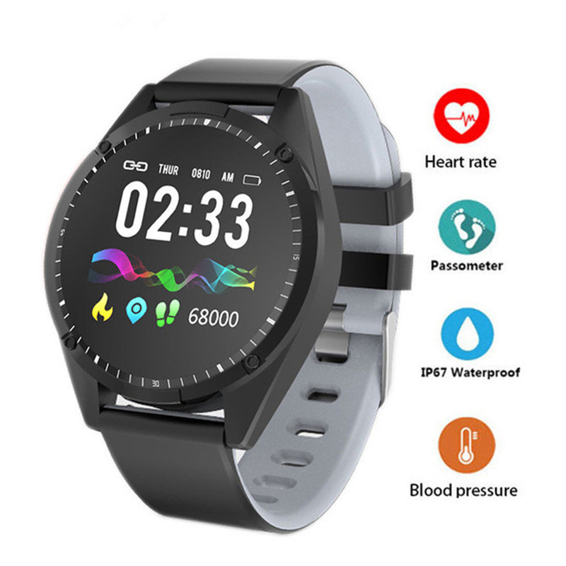 Blood-Pressure-Monitor Smartwatch Fitness-Tracker Heart-Rate Sport Waterproof Android