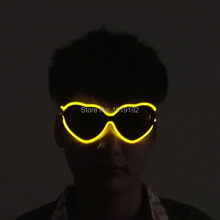heart-sharped ed glasses luminous gift led glasses for parties blue lig