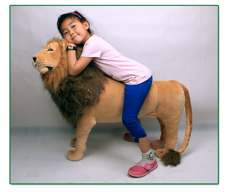 simulation standing lion plush toy large 110x70cm surprised birthday gift b0578 simulation animal huge leopard plush toy 110x70cm high quality can be rided birthday gift christmas gift w0442