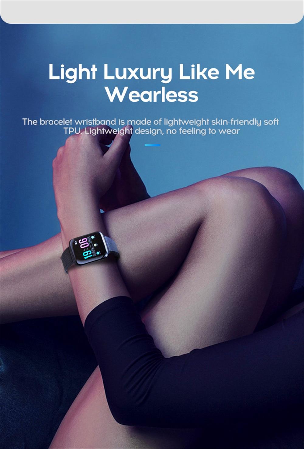 10-130435- Smart Watch Men Blood Pressure Waterproof Smartwatch Women Heart Rate Monitor Fitness Tracker Watch GPS Sport For Android IOS