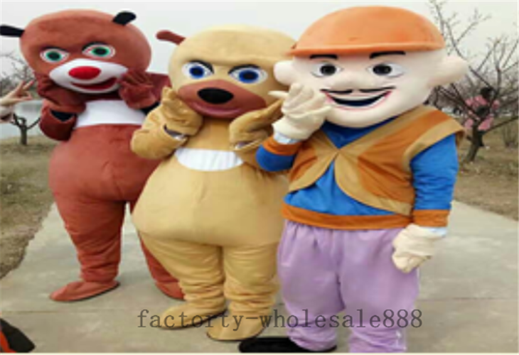 Nouveau Halloween Boonie ours mascotte Costume costumes adulte Cosplay fête jeu robe tenues vêtements publicité carnaval noël - 3