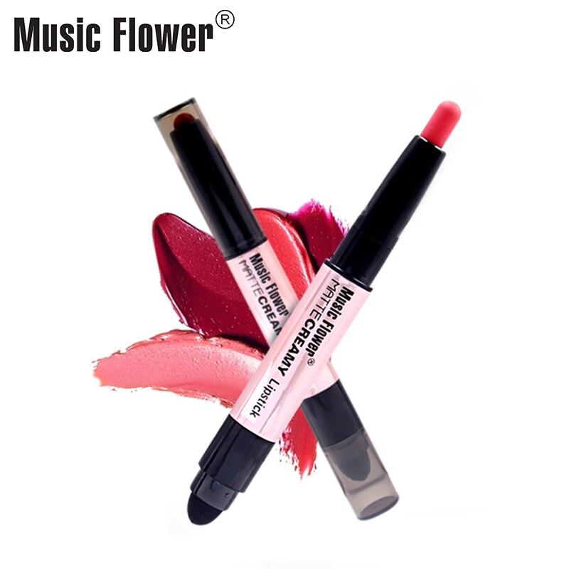 Music Flower 12 Glamorous Colors Matte Қарындаш Ерін - Макияж - фото 6