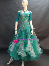 Ballroom Dance Competition Dress High Quality Custom Made Women Sexy Tango/Waltz Costume Standard Ballroom Dress