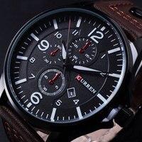 New 2015 Brand Curren Men S Watch Men Date Clock Men Casual Quartz Watch Leather Wrist
