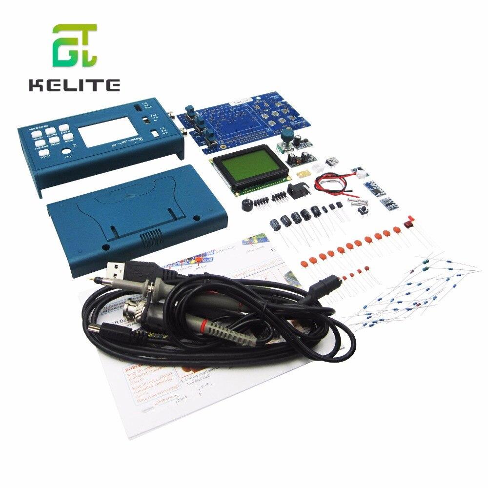 DSO068 20 MHz Mini Oscilloscope de stockage numérique bricolage Version F Kits écran numérique électronique enseignement pratique Production costume