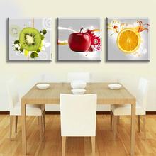 3Panels Free shipping Picture Painting Combination Modern Canvas Paint best still life oil paintings of fruits Art Wall 1021