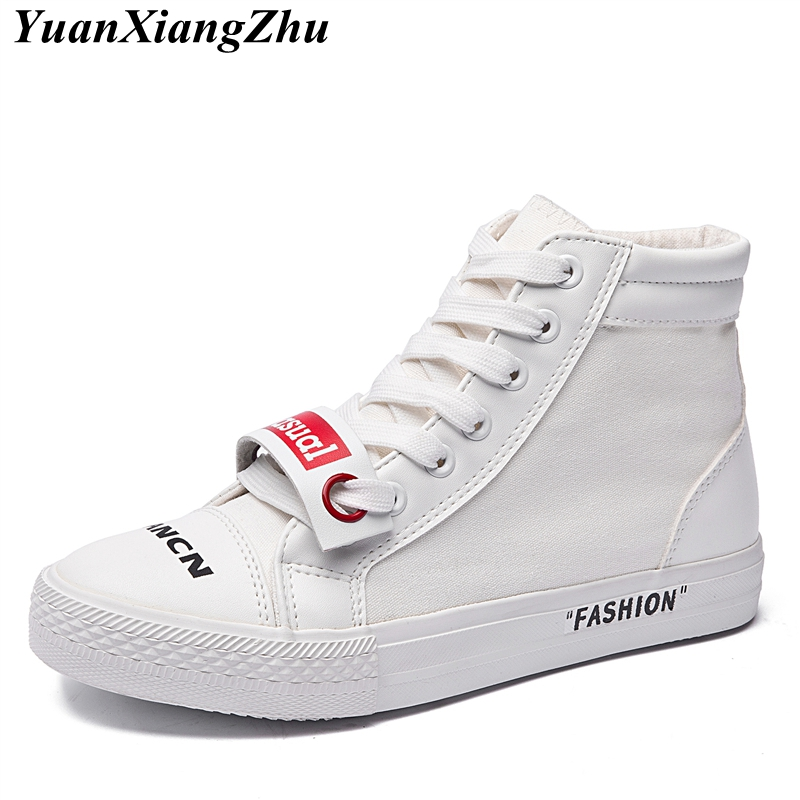 Fashion High Top Sneakers Canvas Shoes Women Casual Shoes White Flat Female  Basket Lace-Up Harajuku Trainers Chaussure Femme - aliexpress.com -  imall.com 38e4711b21e7