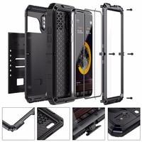 Premium Shockproof IP68 Waterproof Full Sealed Aluminum Metal TPU Hybrid Doom Armor Case Cover For IPhone