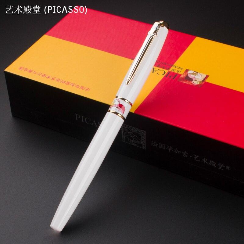 PICASSO 966 Clip de Oro Blanco 0.38mm Amplia nib Pluma Sin Caja de Lápices bolígrafos escritura regalo de lujo