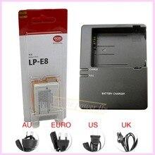 LP E8 LP-E8 Rechargeable Battery + LC-E8E LC-E8E Charger pack For Canon EOS 550D 600D 650D 700D Kiss X4 X5 X6i X7i Rebel T2i T3i