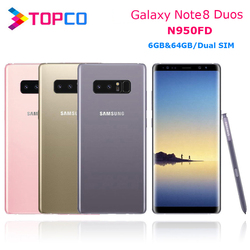 Samsung Galaxy Note8 Duos Note 8 N950FD Global Version 4G LTE Android Phone Exynos Octa Core 6.3