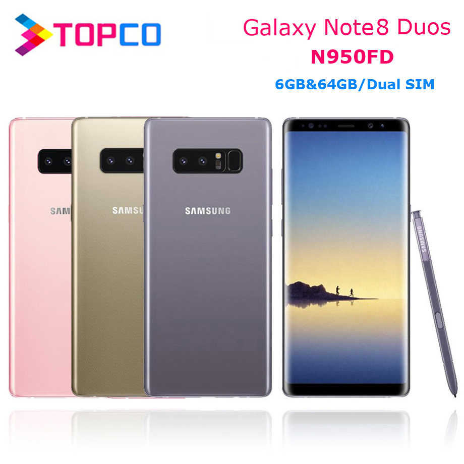 """Samsung Galaxy Note8 Duos Note 8 N950FD Version globale 4G LTE téléphone Android Exynos Octa Core 6.3 """"double 12MP RAM 6 go ROM 64 go NFC"""