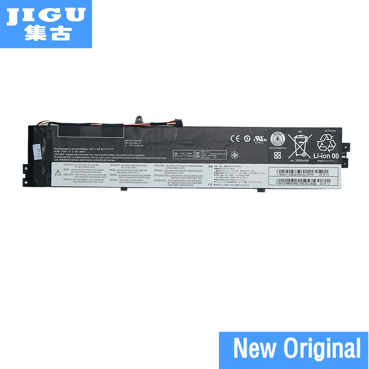 JIGU 45N1138 45N1139 45N1140 45N1141 121500158 Original Laptop Battery For Lenovo For ThinkPad S431 S440 V4400u S3 S5