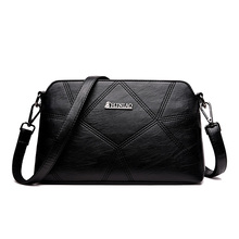 купить New women bags quality leather soft face quilted crossbody bags for women female tote bag shoulder messenger bag  bolsos mujer по цене 1356.68 рублей
