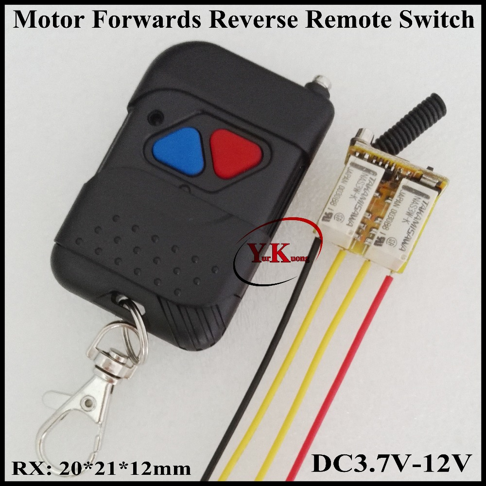 3.7V 4.2V 4.5V 5V 6V 7.4V 9V 12V Mini Motor Remote Switch Motor Forwards Reverse Up Down Stop Wireless Controller Motor RF RXTX dc 12v 40a motor remote control switch high power motor rf controller 700w auto gate garage door motor remote up down stop askrx