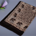 New 2016 Fashion Soft Thin Chiffon Silk Scarf Women Elephant Printed Scarves Foulard Sjaal Cachecol Feminino 144*51cm