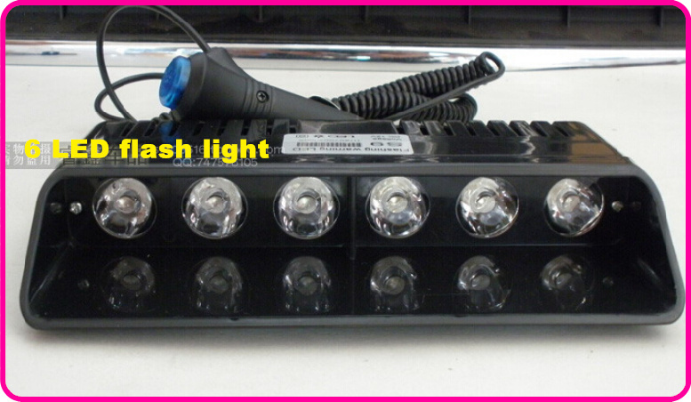 Higher star DC12V 6*GENIII 1W bright Led flash light,car Windshield dash light,emergency light,police ambulance light 11flash