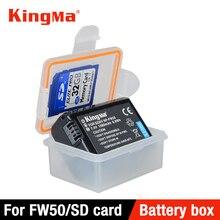 KingMa 5 sztuk z tworzywa sztucznego uchwyt na pudełko do przechowywania dla sony aparat DSLR baterii NP FW50 a7r2 a7m2 NEX 5T a5000 a5100 a6000 a6300 a6500